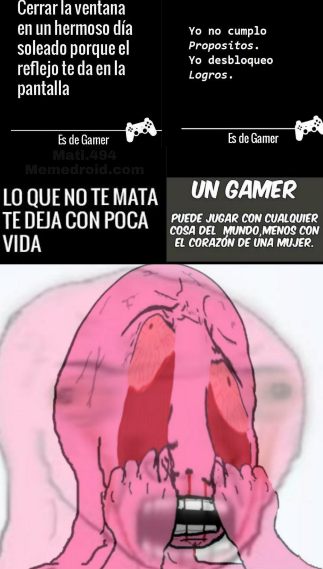 Tipos de gamer: El que se enoja - meme