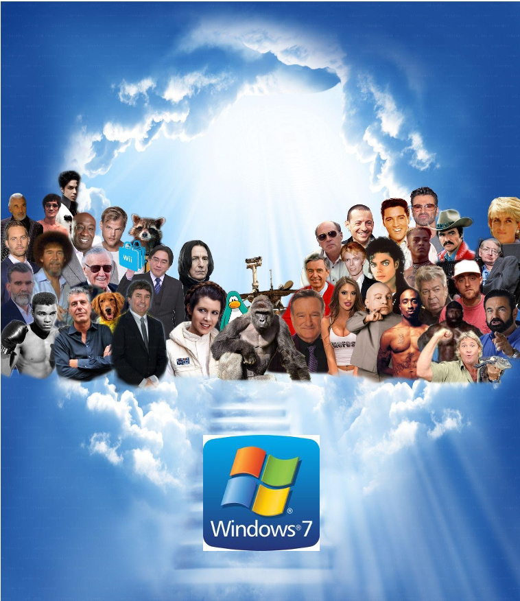 R.i.p windows 7 2009-2020 - meme