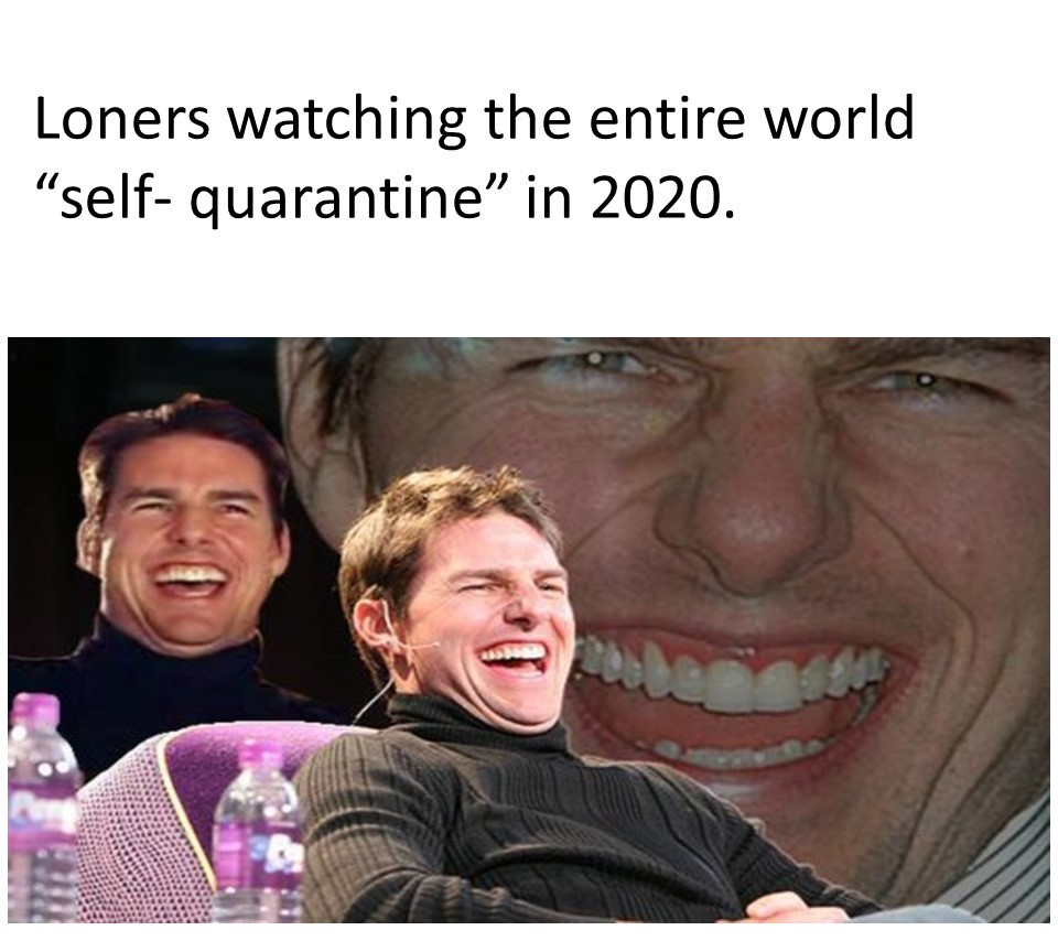 Loners in 2020 Be Like..... - meme