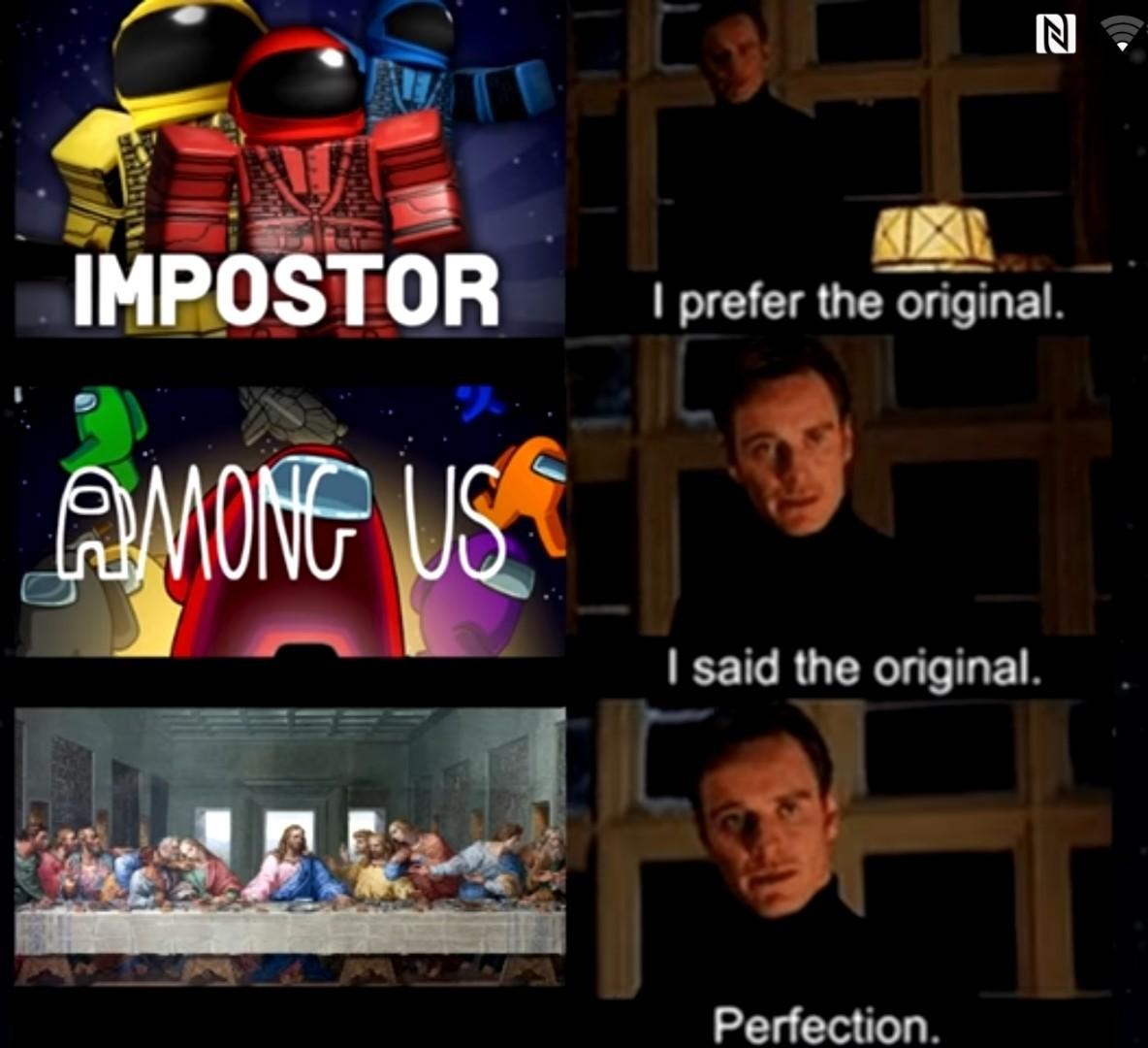 Ah yes the og imposter - meme