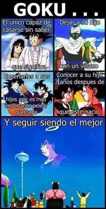 Goku eres todo un lokilloo - meme