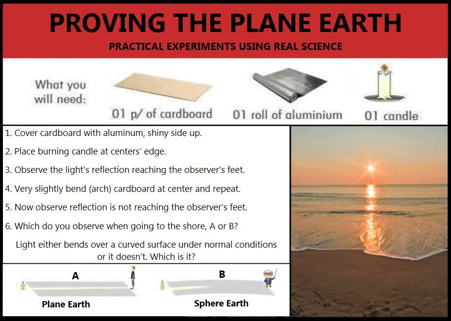 Proving Flat Earth - meme