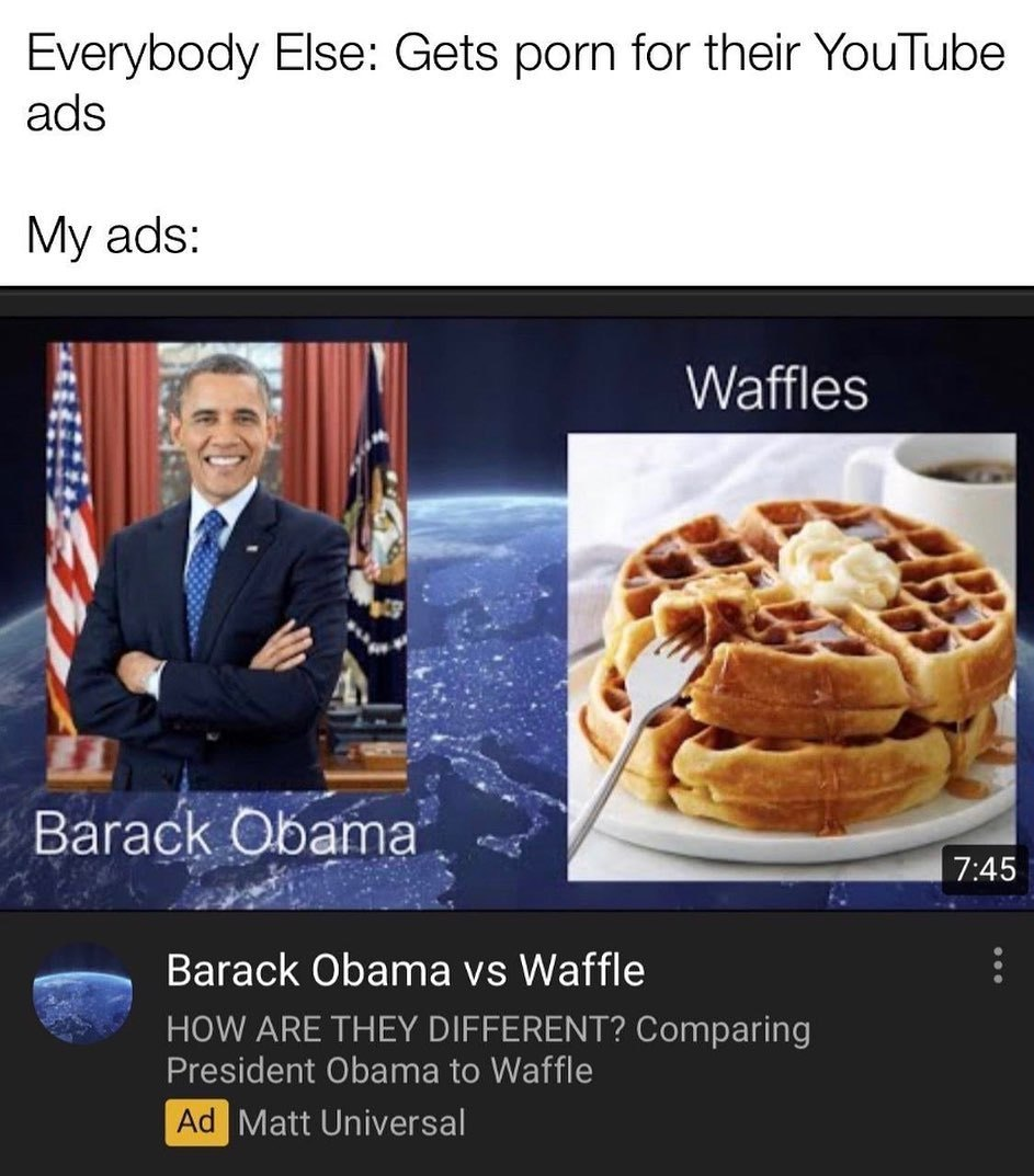 My YouTube ads are prime - meme