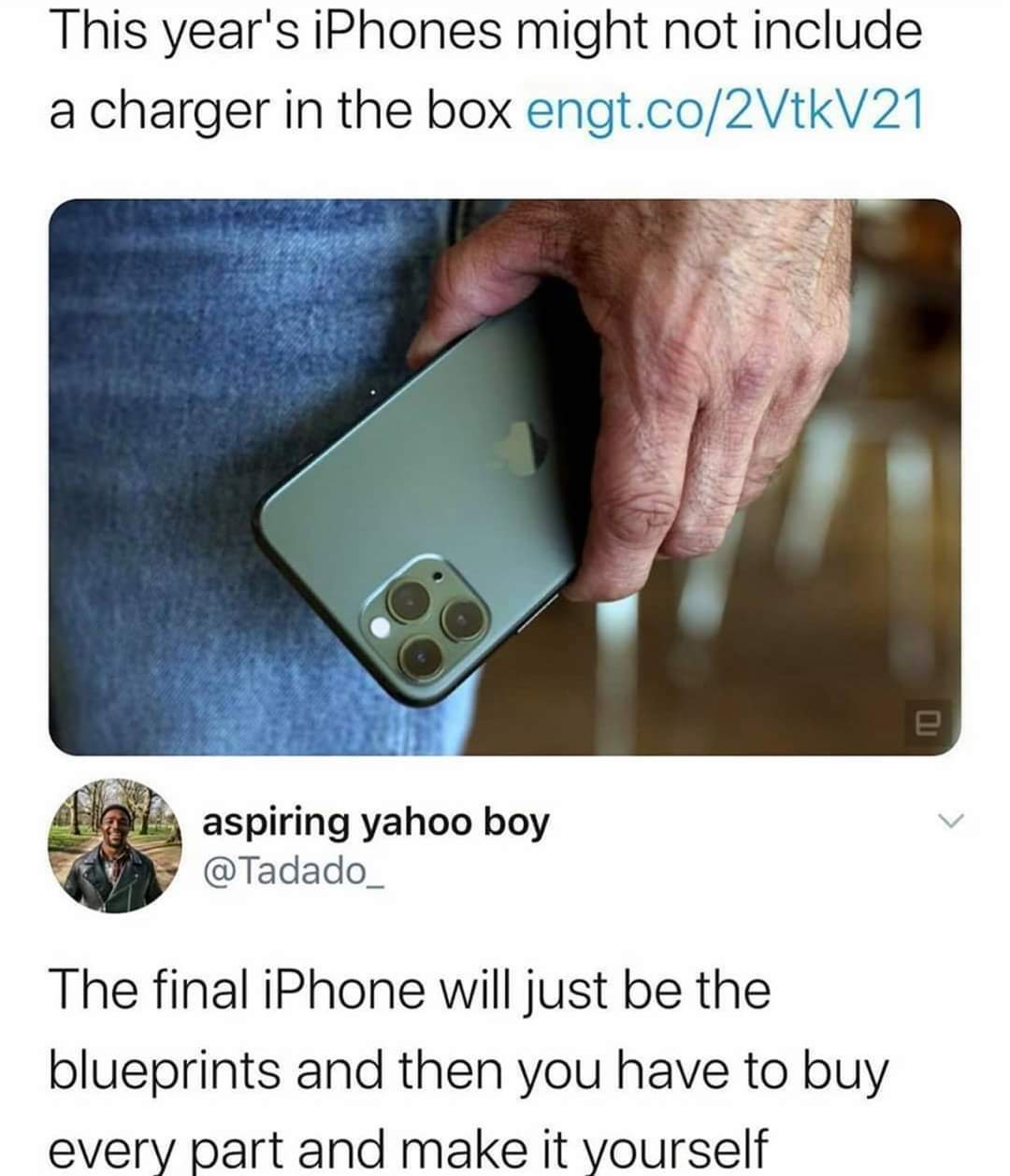 iPhone bad Android good - meme