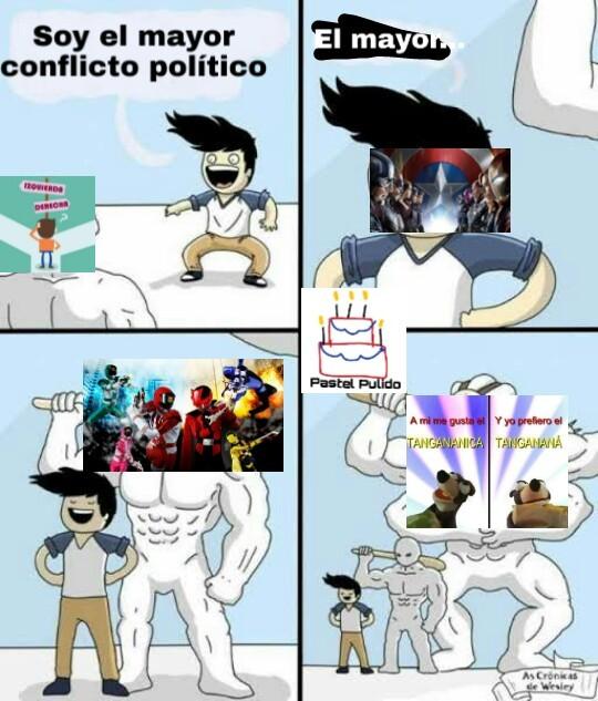Potente la discusión - meme