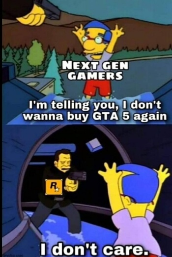 Just release gta 6 and not gta 5 for the 3rd time - meme