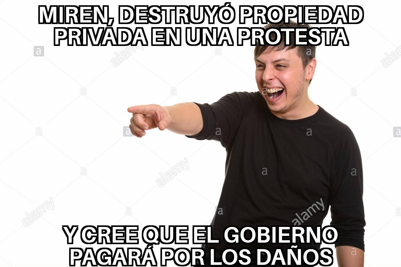 Re pendejos los protestantes - meme