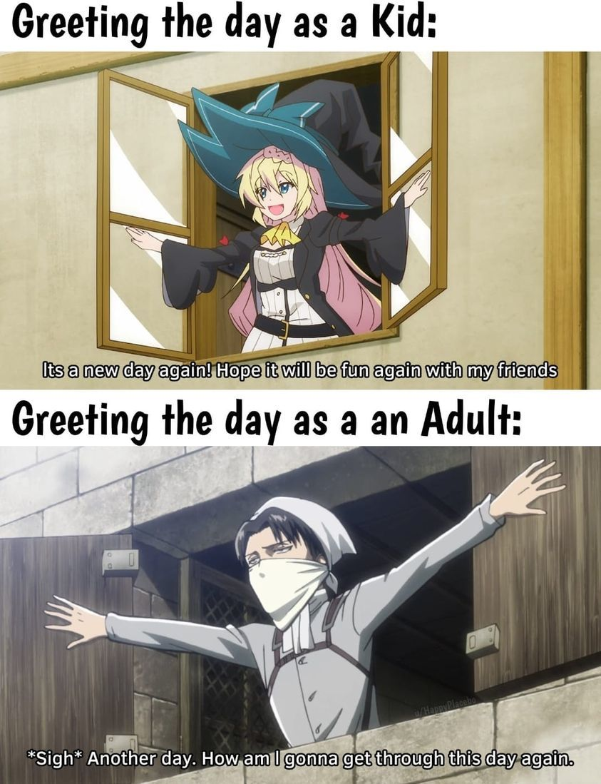 Greeting the day - meme