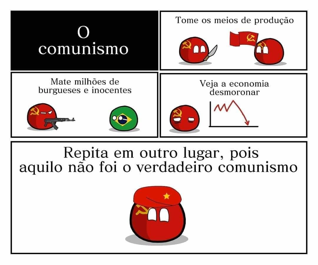 Nunca é o verdadeiro comunismo - meme