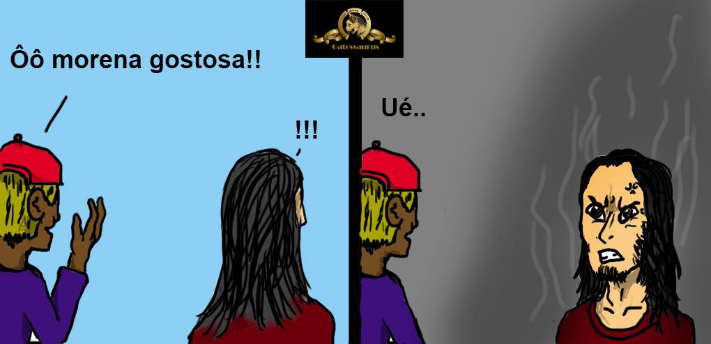 """e.e ue """"curtam Gatossaurus no face o/"""" - meme"""