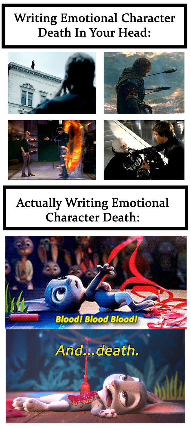 Writing Character Death - meme