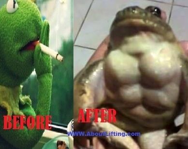 before and after swole - meme