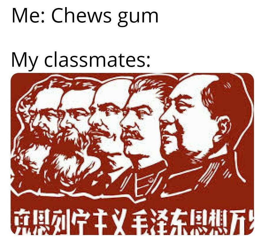 Communist classmates - meme