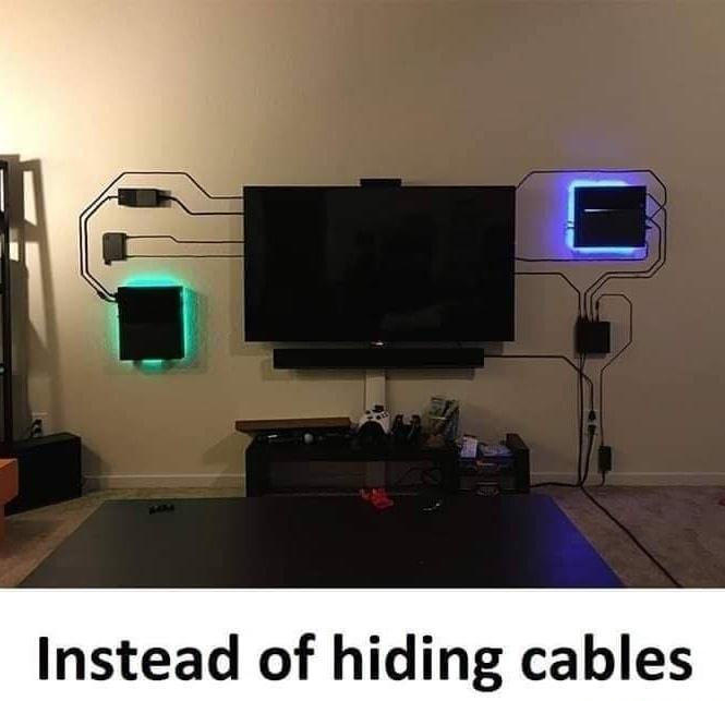 showing cables - meme