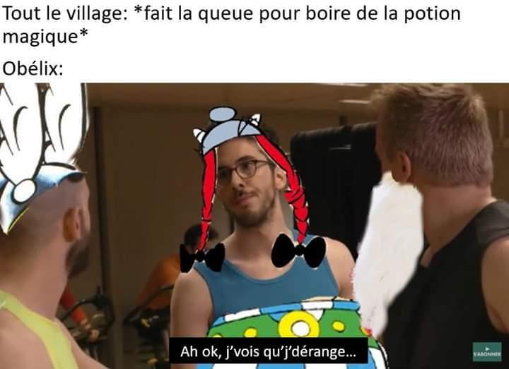 Non pas toi, Obelix - meme