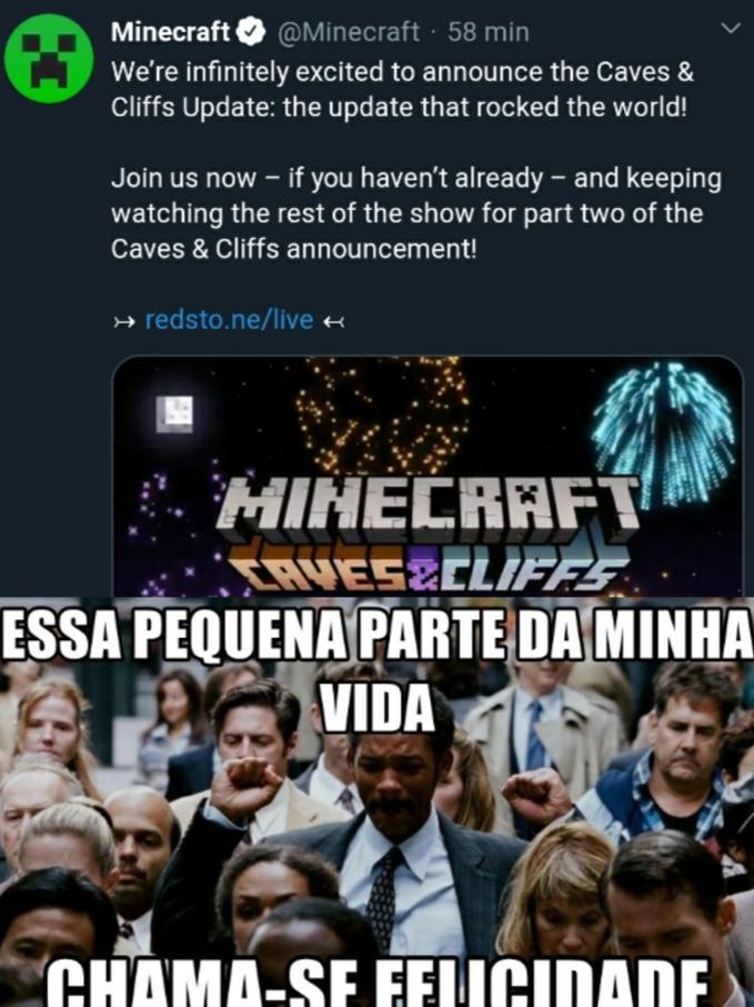 Finalmente os Cara vão Trazer o Update das Cavernas - meme