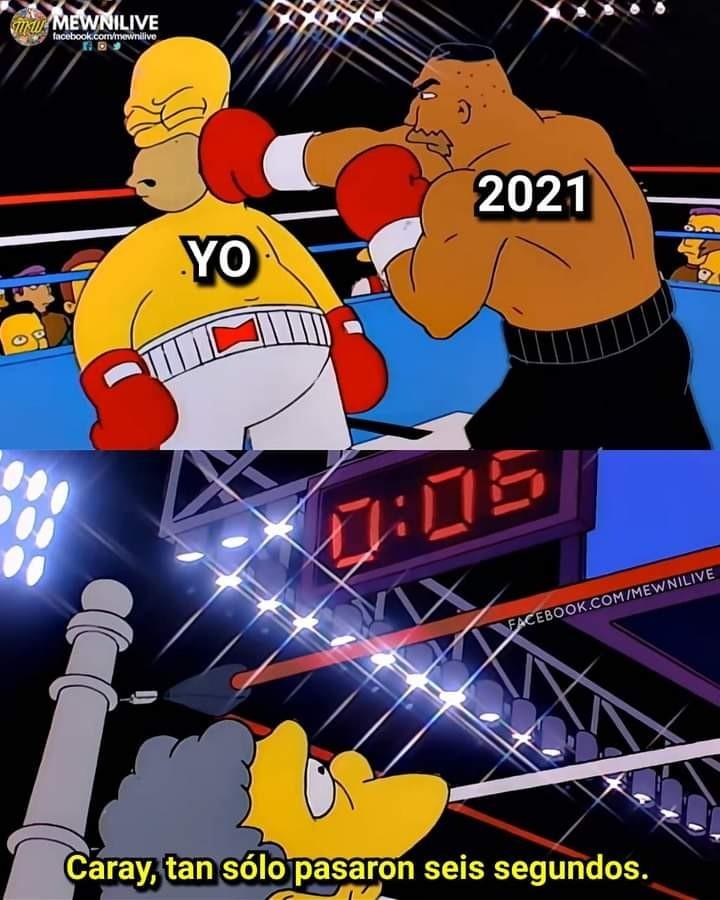 Bienvenido 2021 - meme