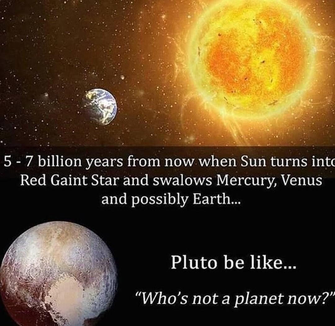 Make pluto a planet again! - meme