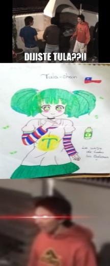 Agradezco a mi amiga por el dibujo de Tula chan - meme