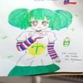 Agradezco a mi amiga por el dibujo de Tula chan