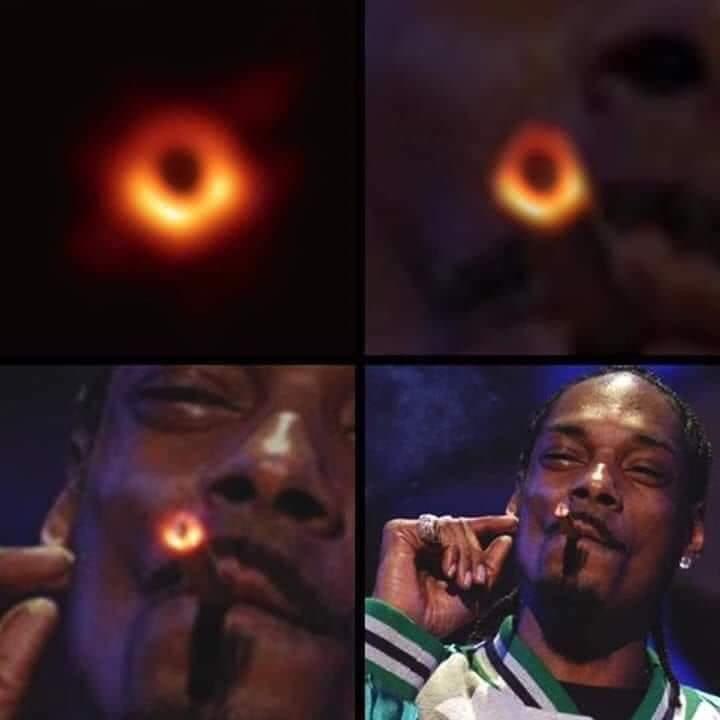 El agujero negro de weed. - meme