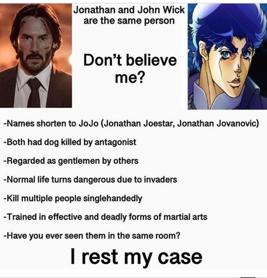 Jonathan is best Jojo - meme
