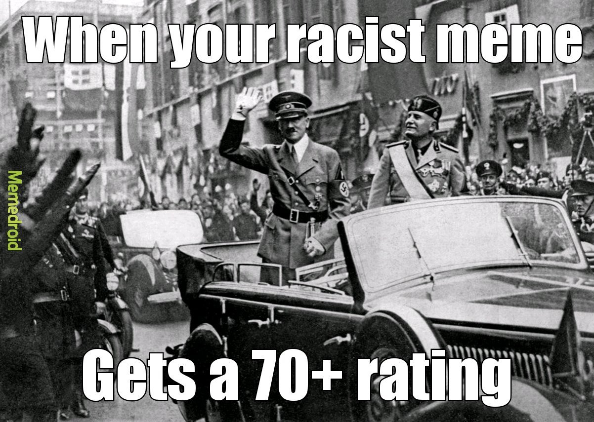 Be racist to each other, it's good for your mental healthy - meme