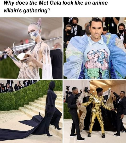 The Met Gala looks like an anime villain's gathering - meme