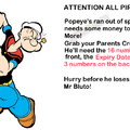 Popeye needs your help