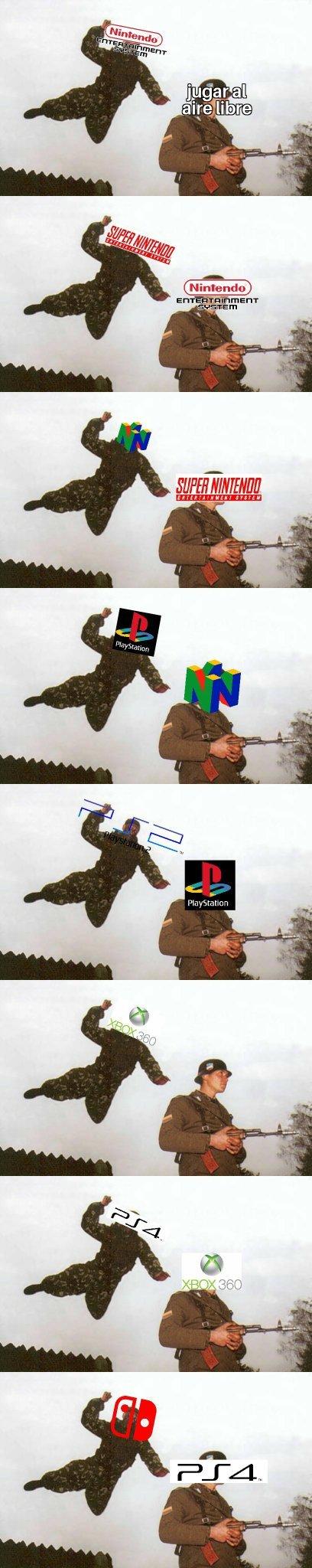 Evolución de las consolas - meme