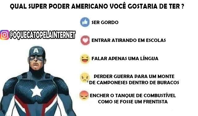 Super poderes americanos - meme