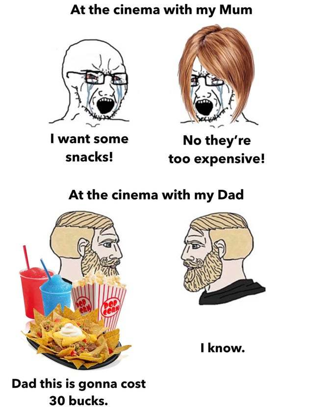 At the cinema with my mum - meme