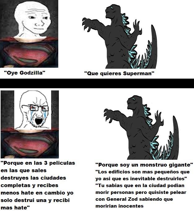 Chadzilla vs Super Virgin - meme