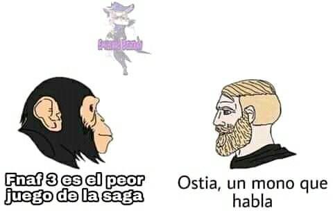Ostia, un mono que habla - meme