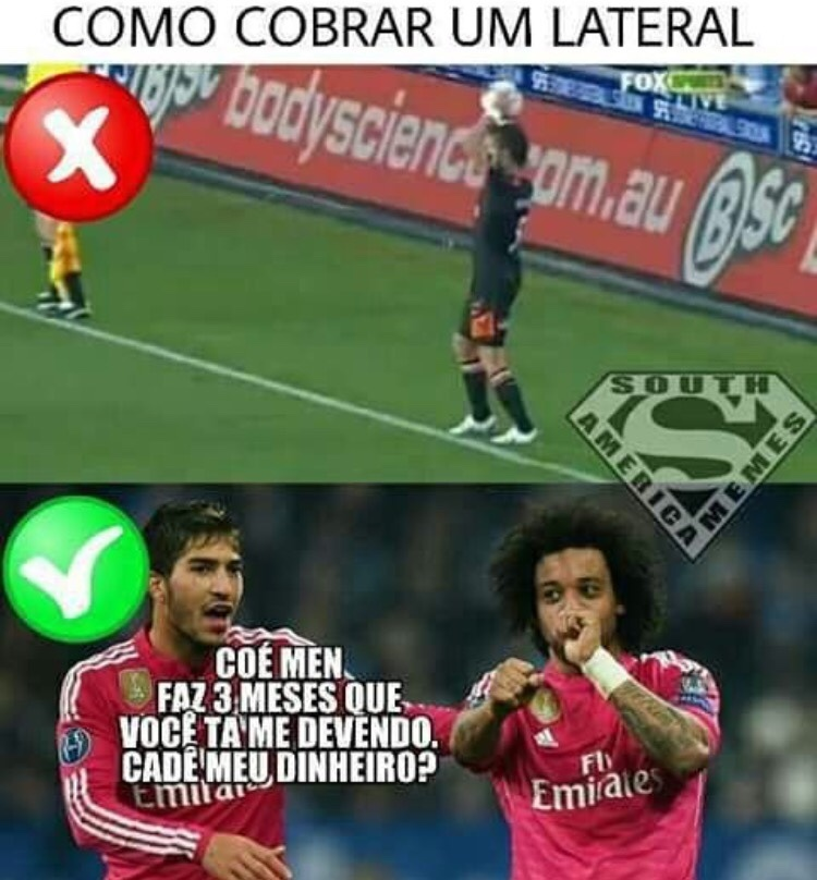cobrar o lateral - meme