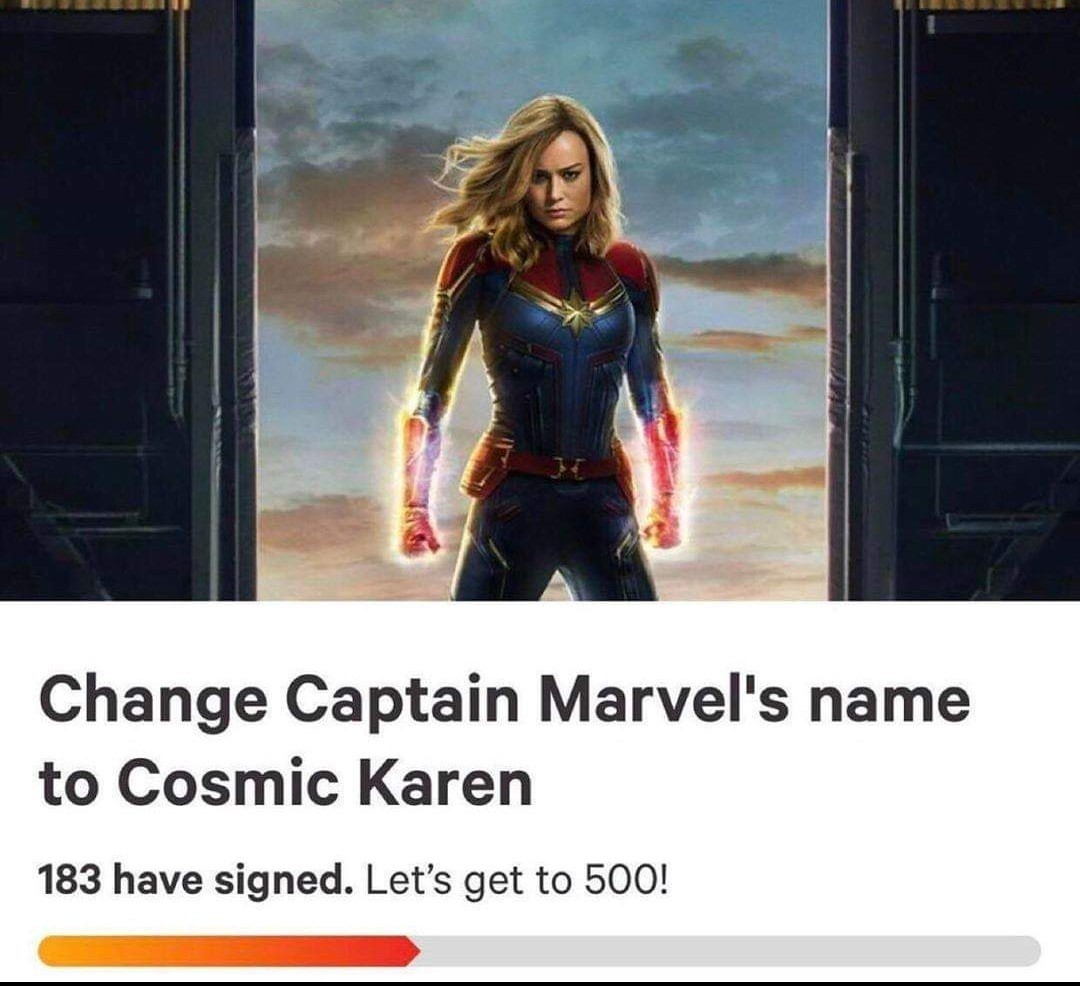 Cosmic Karen. Fighting the patriarchy and evil managers - meme