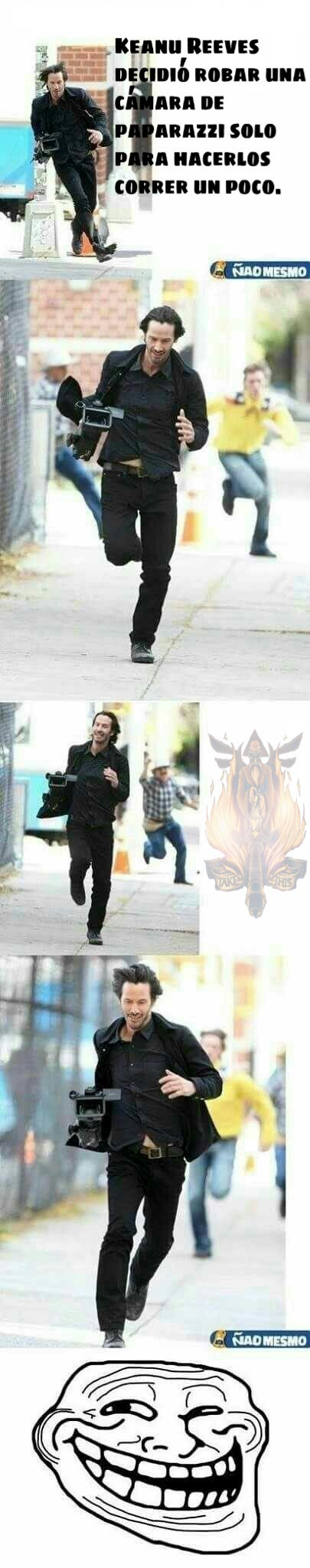 Jajaja, Keanu Reeves es la verga - meme