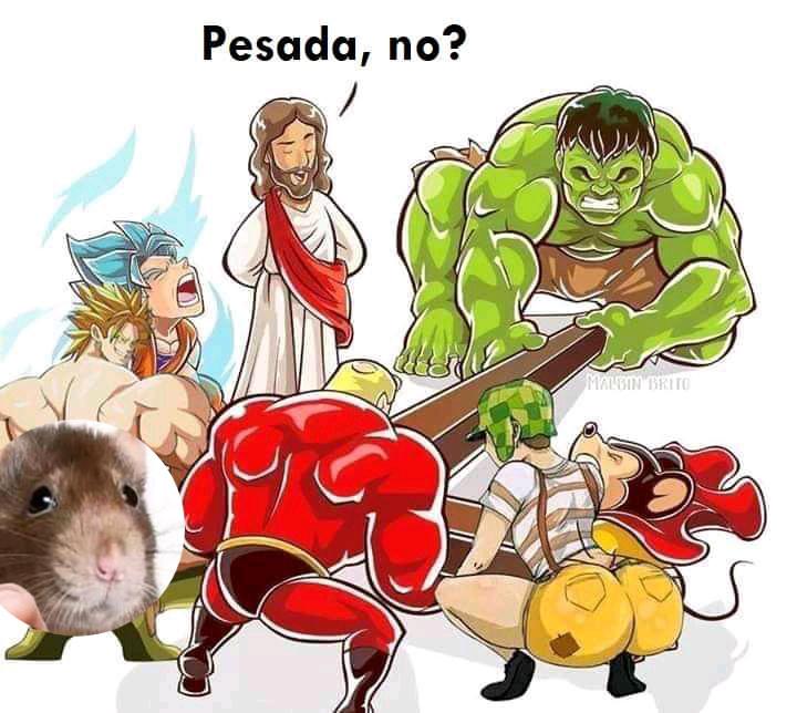 Jesús el mejor super heroe - meme
