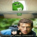 That green m&m is gonna turn vanilla real soon