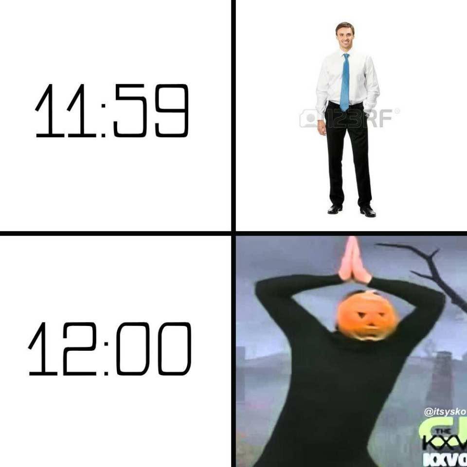 Time to get S P O O K Y - meme
