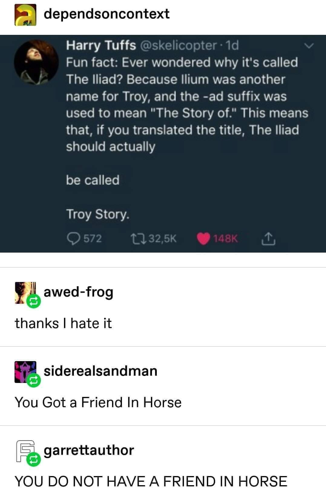 Troy Story - meme