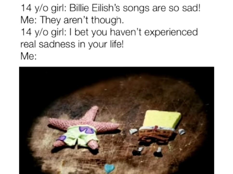 Real sadness - meme