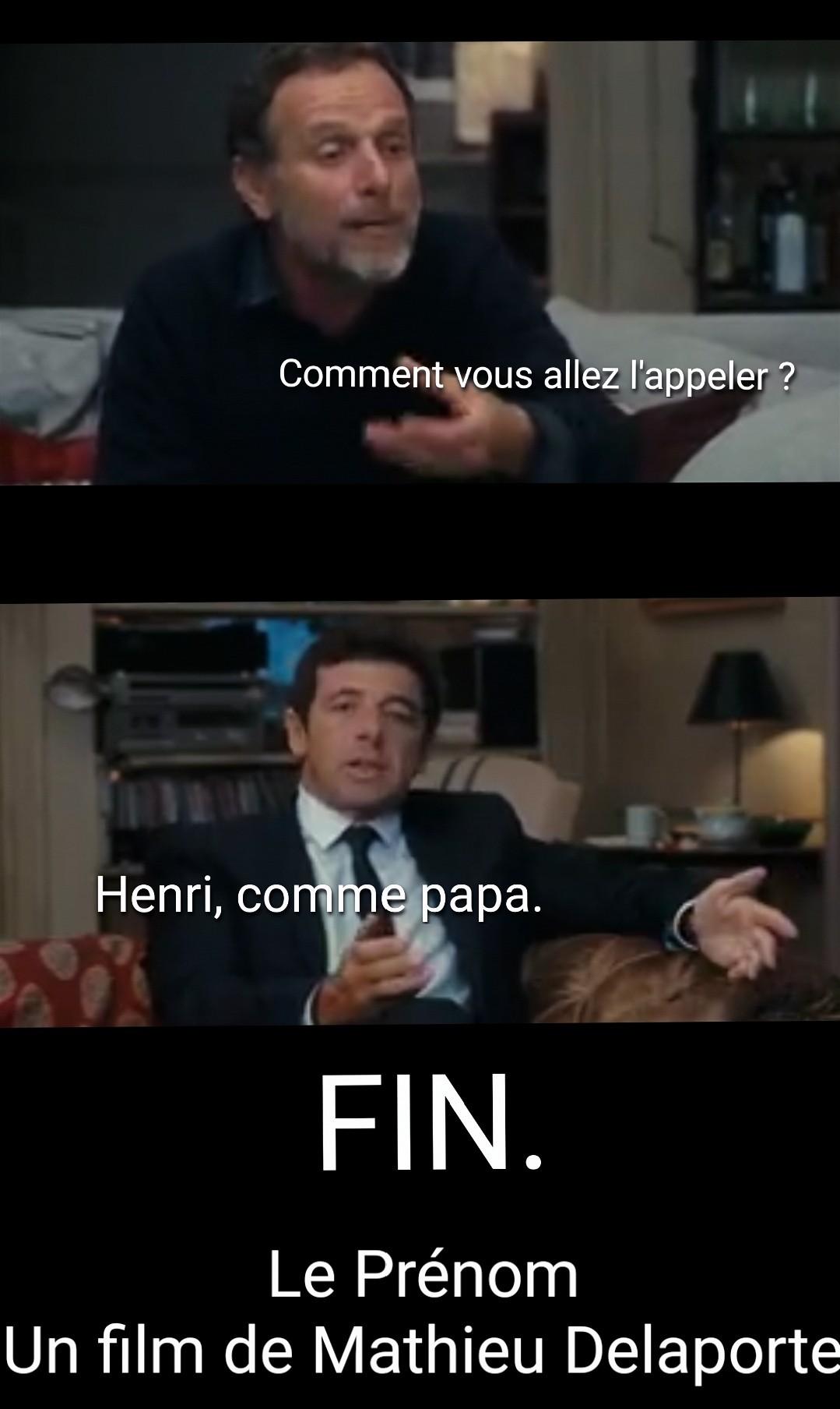 Le Prénom - Fin alternative - meme