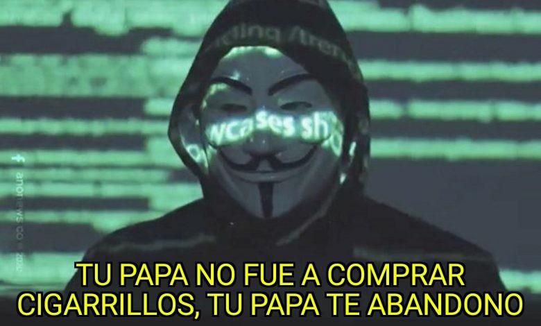 Se paso el Anonymus - meme