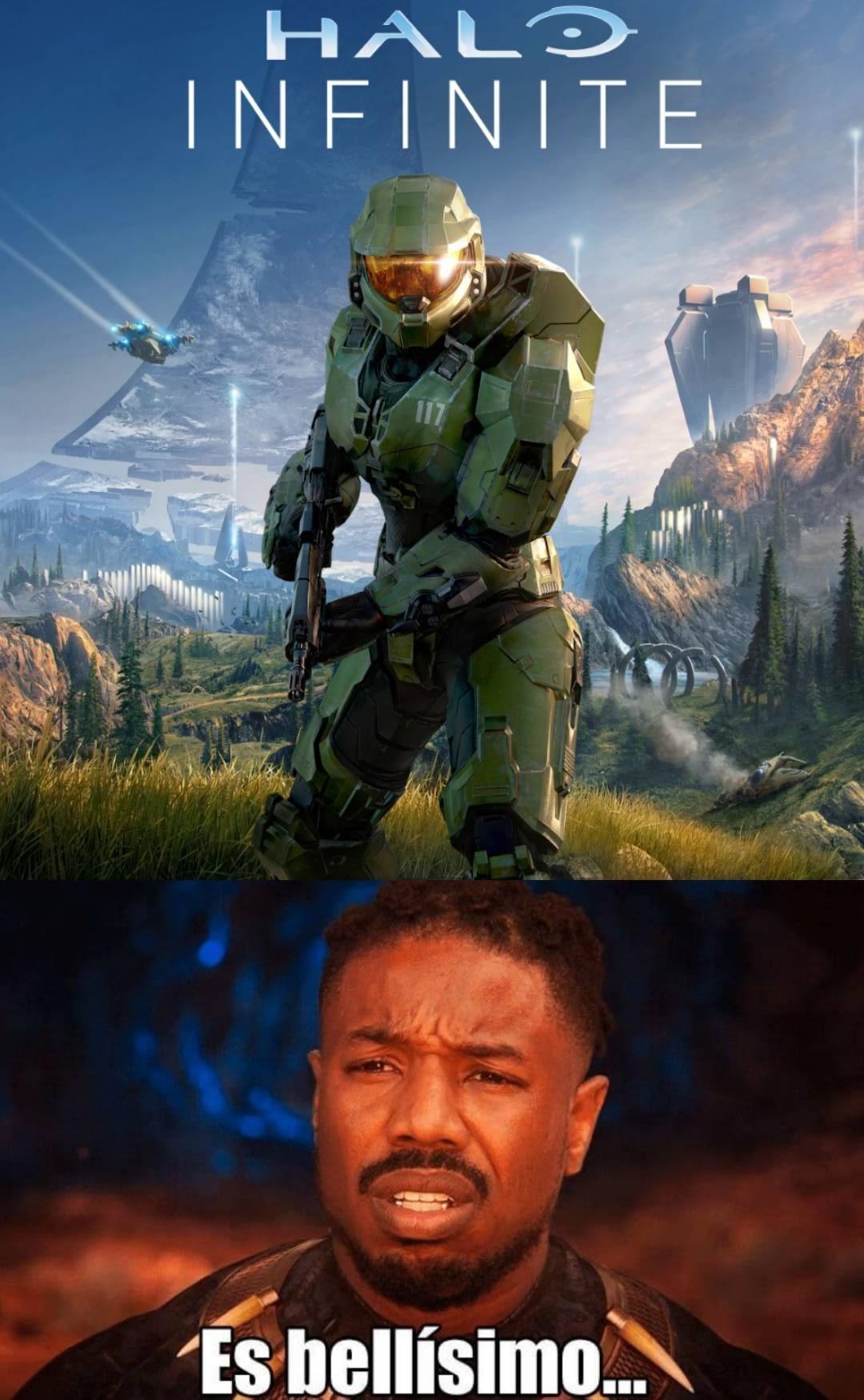 El nuevo arte de Halo es precioso. - meme