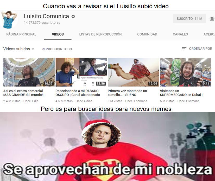 Pobre Luisillo - meme