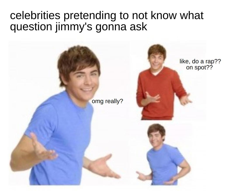 both fallon and kimmel - meme