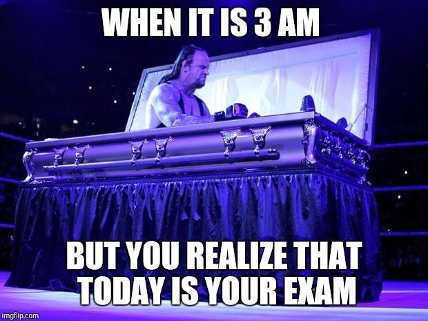 Exam time stress - meme