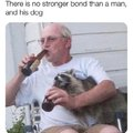 There is no stronger bond than a man and his dog