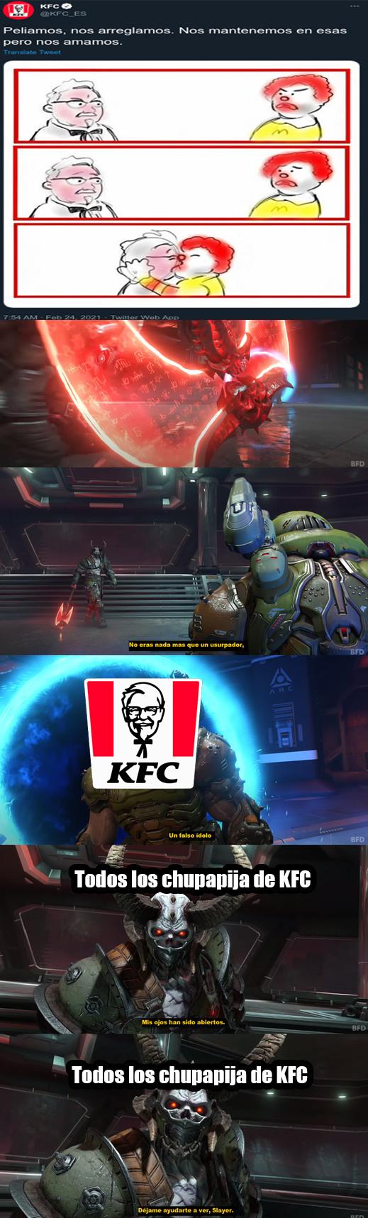 KFC nunca le supo al chispop - meme